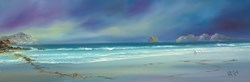Blue Panorama I by Philip Gray -  sized 48x16 inches. Available from Whitewall Galleries